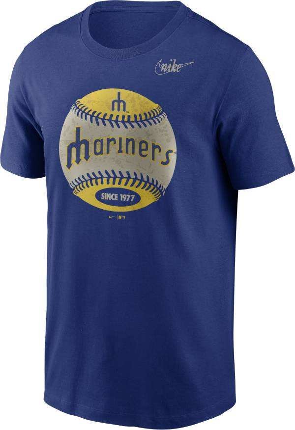 Nike Men's Seattle Mariners Blue Cooperstown Vintage Baseball T-Shirt product image