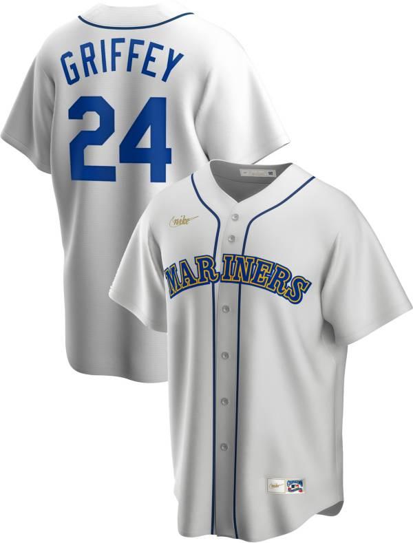 Nike Men's Seattle Mariners Ken Griffey Jr. #24 White Cooperstown V-Neck Pullover Jersey