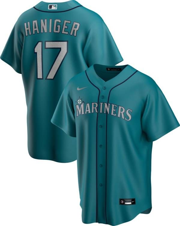 Nike Men's Replica Seattle Mariners Mitch Haniger #17 Green Cool Base Jersey product image