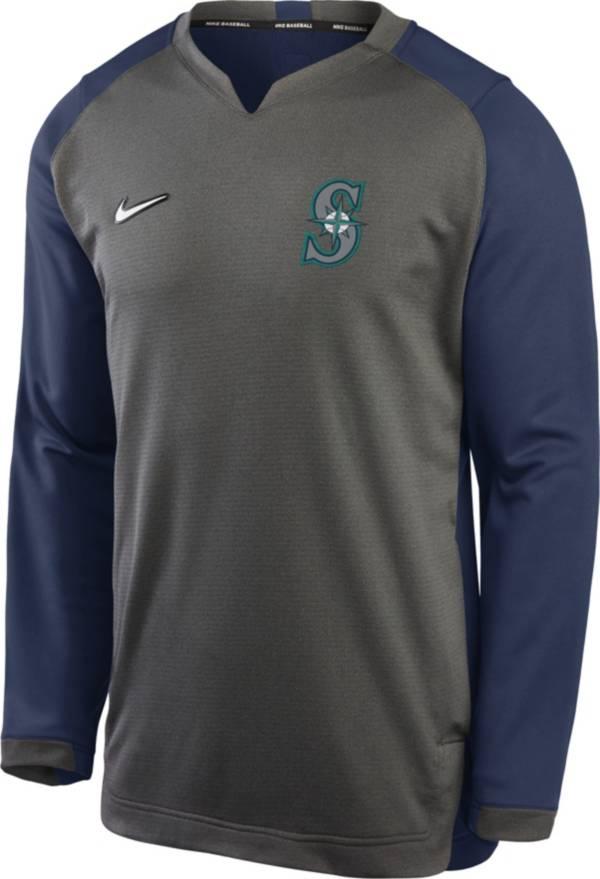 Nike Men's Seattle Mariners Grey Dri-FIT Thermal Crew T-Shirt product image