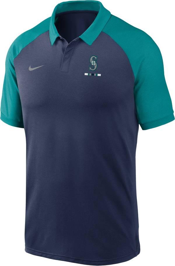 Nike Men's Seattle Mariners Navy Dri-FIT Legacy Raglan Polo product image