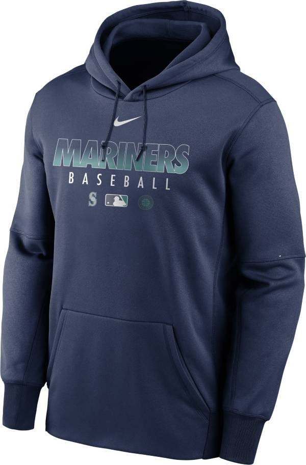 Nike Men's Seattle Mariners Navy Dri-FIT Therma Pullover Hoodie product image