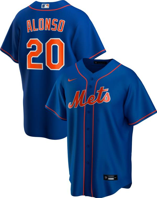 Nike Men's Replica New York Mets Pete Alonso #20 Blue Cool Base Jersey product image