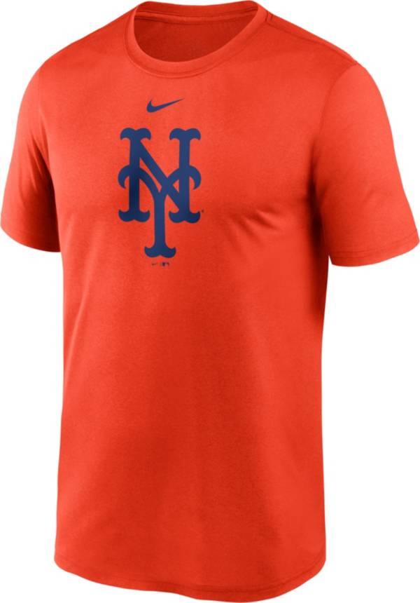 Nike Men's New York Mets Orange Large Logo Legend Dri-FIT T-Shirt product image