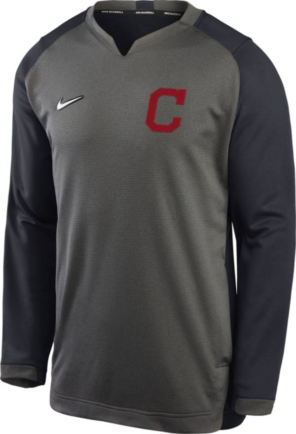 Nike Men's Cleveland Indians Grey Dri-FIT Thermal Crew T-Shirt product image