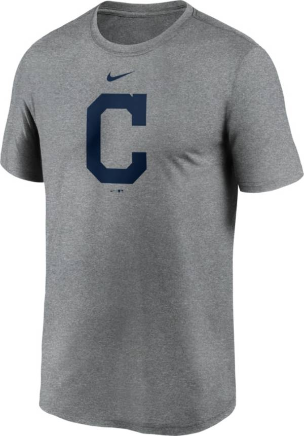 Nike Men's Cleveland Indians Grey Large Logo Legend Dri-FIT T-Shirt product image