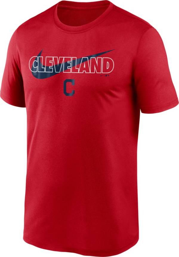 Nike Men's Cleveland Indians Red Swoosh Legend T-Shirt product image