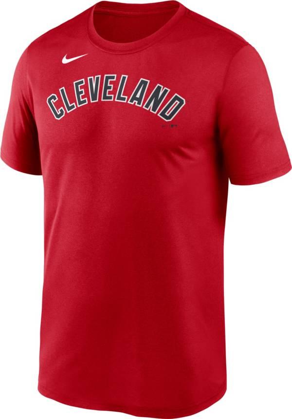 Nike Men's Cleveland Indians Red Wordmark Legend Dri-FIT T-Shirt product image
