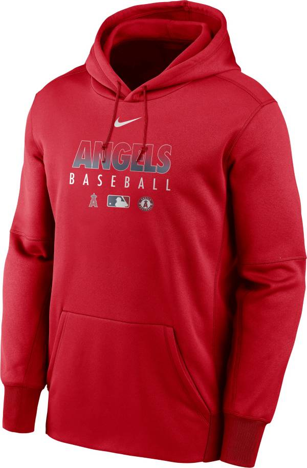 Nike Men's Los Angeles Angels Red Dri-FIT Therma Pullover Hoodie product image