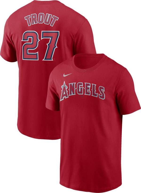 Nike Men's Los Angeles Angels Mike Trout #27 Red T-Shirt product image