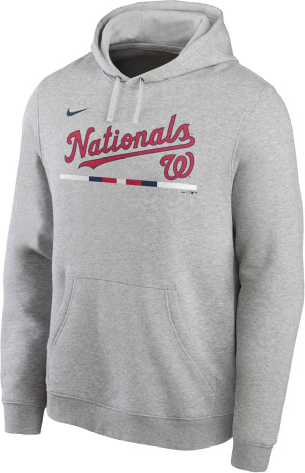 Nike Men's Washington Nationals Gray Color Bar Pullover Hoodie product image