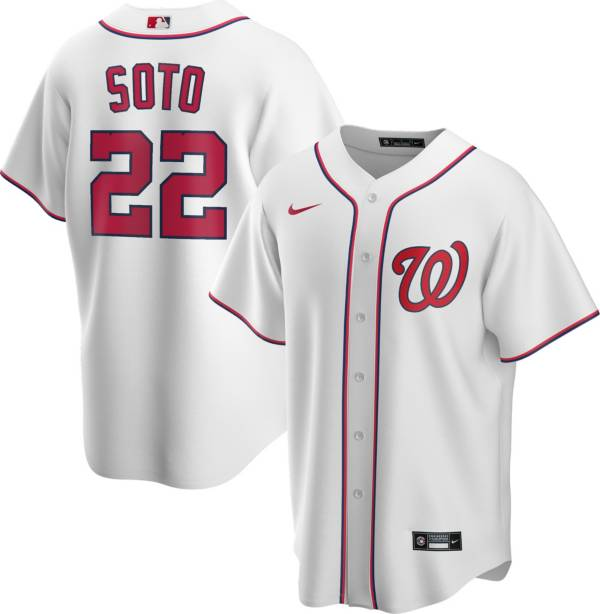 Nike Men's Replica Washington Nationals Juan Soto #22 White Cool Base Jersey product image