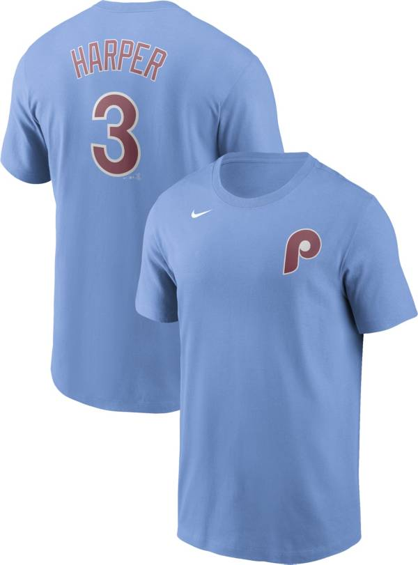 Nike Men's Philadelphia Phillies Bryce Harper #3 Blue T-Shirt product image