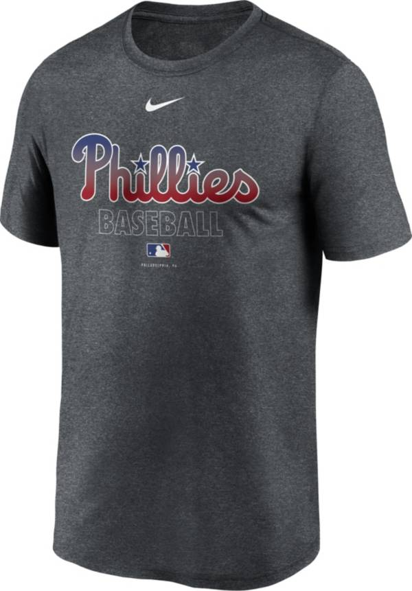 Nike Men's Philadelphia Phillies Grey Authentic Collection Legend Dri-FIT T-Shirt product image