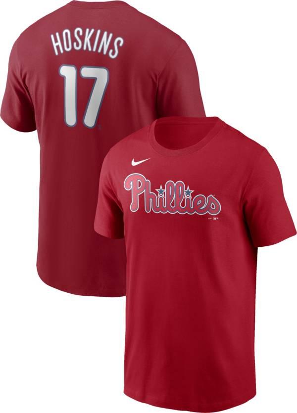 Nike Men's Philadelphia Phillies Rhys Hoskins #17 Red T-Shirt product image