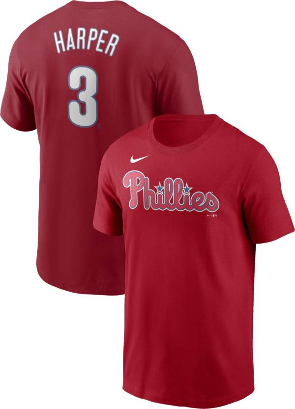 Nike Men's Philadelphia Phillies Bryce Harper #3 Red T-Shirt product image