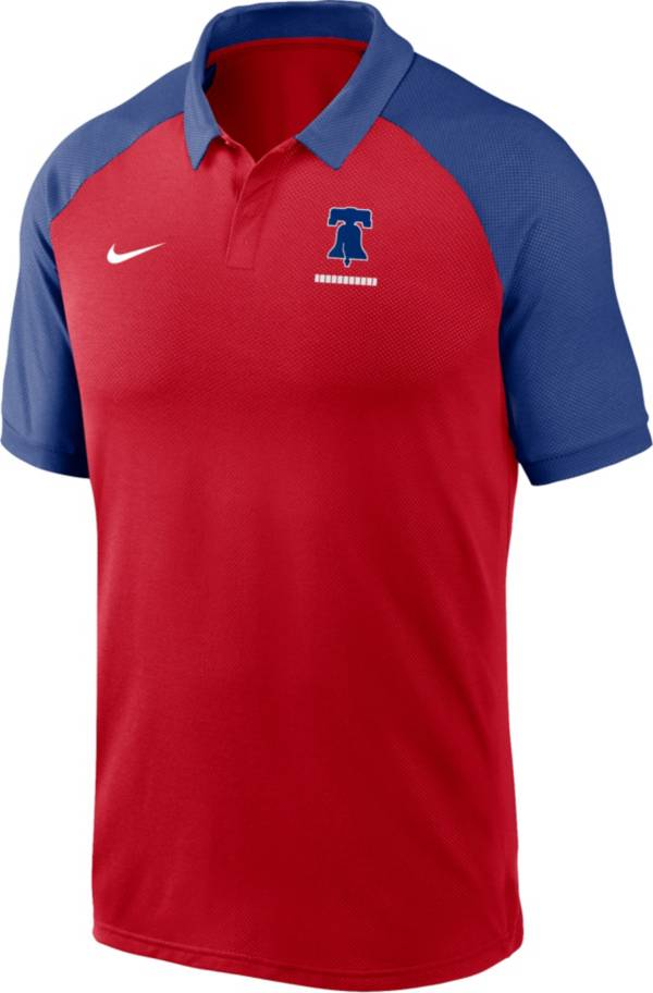 Nike Men's Philadelphia Phillies Red Dri-FIT Legacy Raglan Polo product image