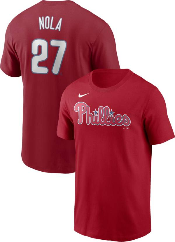Nike Men's Philadelphia Phillies Aaron Nola #27 Red T-Shirt product image
