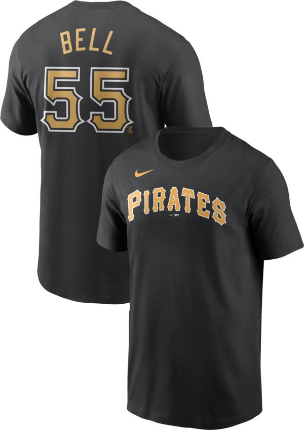Nike Men's Pittsburgh Pirates Josh Bell #55 Black T-Shirt product image