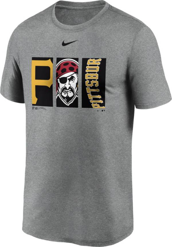 Nike Men's Pittsburgh Pirates Grey Triptych Legend Dri-FIT T-Shirt product image