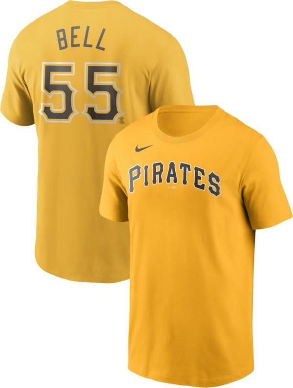 Nike Men's Pittsburgh Pirates Josh Bell #55 Yellow T-Shirt product image