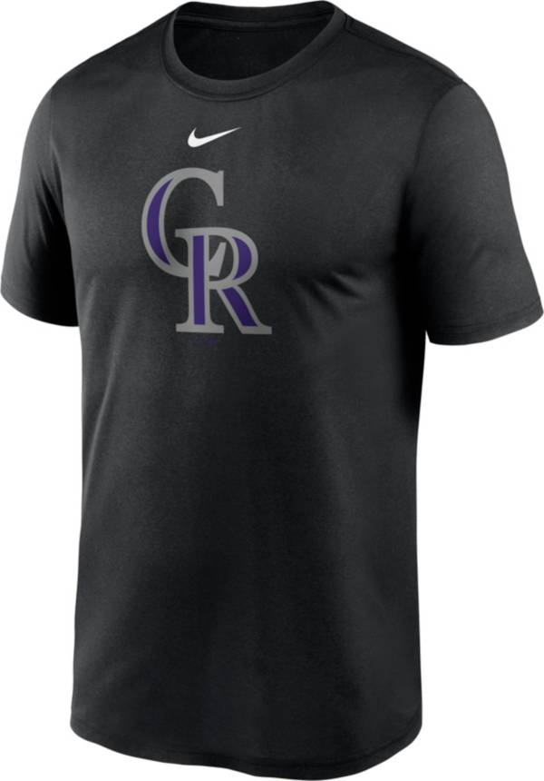 Nike Men's Colorado Rockies Black Large Logo Legend Dri-FIT T-Shirt product image