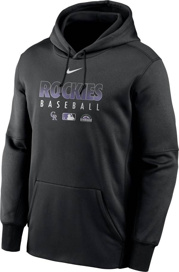 Nike Men's Colorado Rockies Black Dri-FIT Therma Pullover Hoodie product image