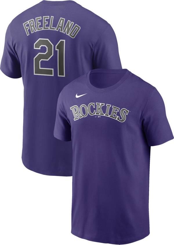 Nike Men's Colorado Rockies Kyle Freeland #21 Purple T-Shirt product image