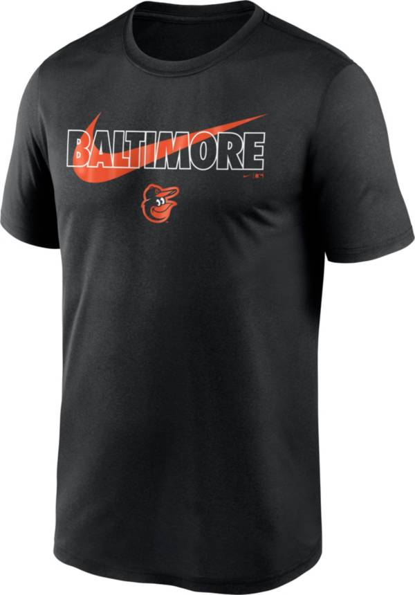 Nike Men's Baltimore Orioles Black Swoosh Legend T-Shirt product image