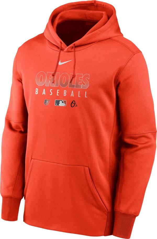 Nike Men's Baltimore Orioles Orange Dri-FIT Therma Pullover Hoodie product image