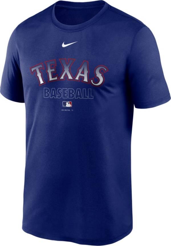 Nike Men's Texas Rangers Blue Authentic Collection Legend Dri-FIT T-Shirt product image