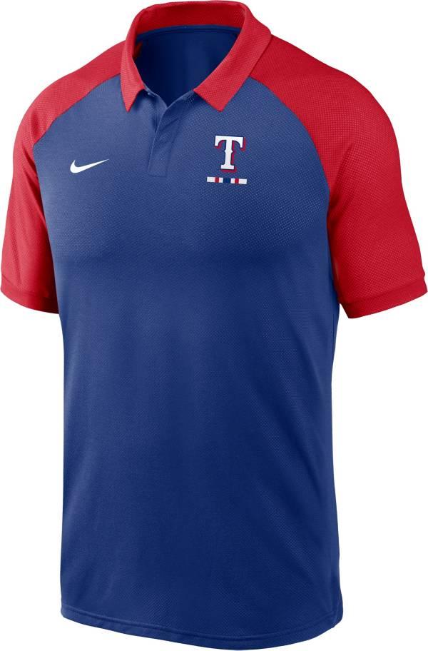 Nike Men's Texas Rangers Blue Dri-FIT Legacy Raglan Polo product image