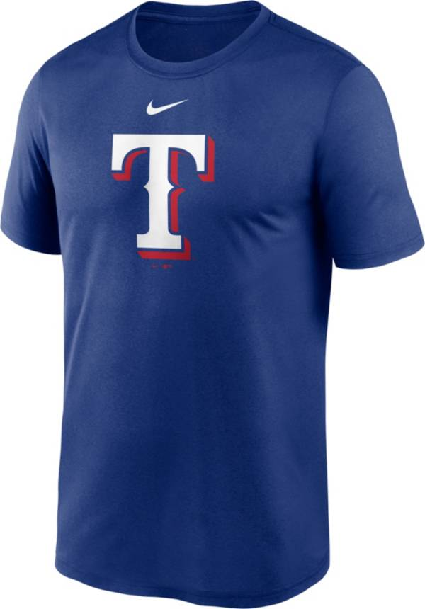 Nike Men's Texas Rangers Blue Large Logo Legend Dri-FIT T-Shirt product image