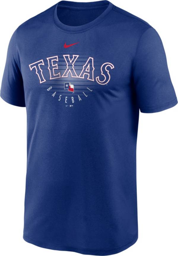 Nike Men's Texas Rangers Blue Outline Legend Dri-FIT T-Shirt product image