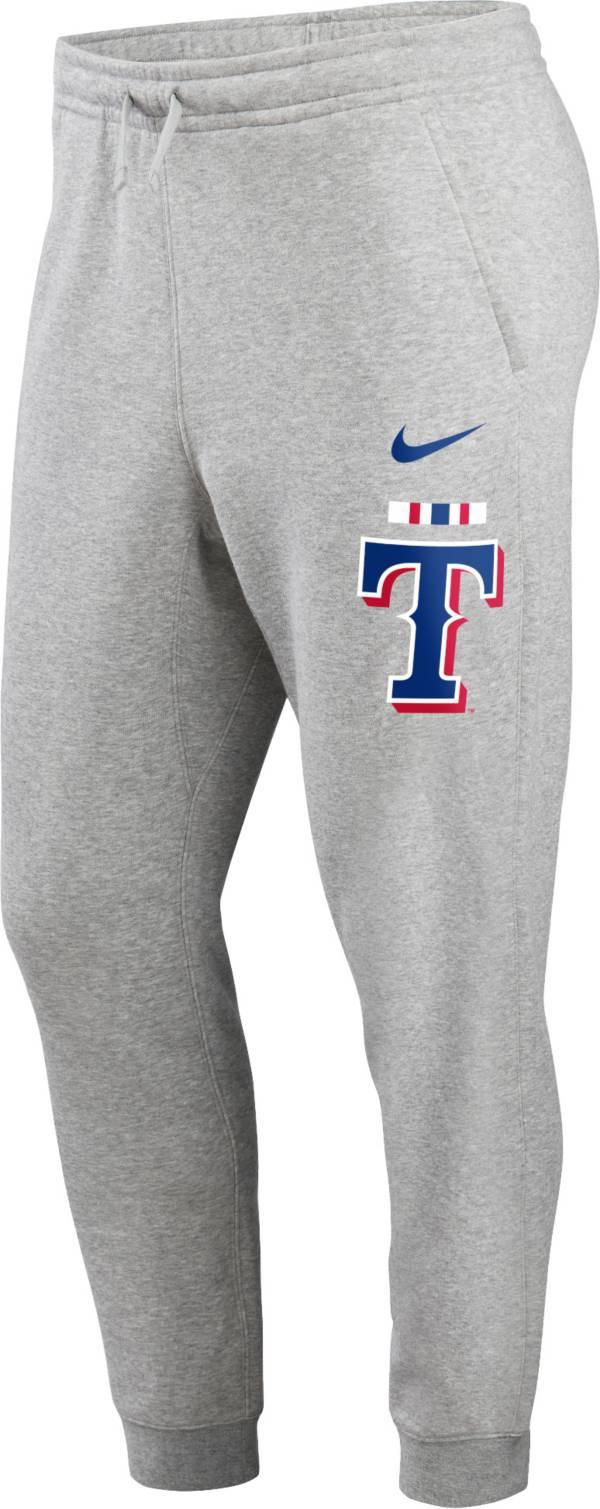 Nike Men's Texas Rangers Grey Color Bar Club Fleece Joggers product image
