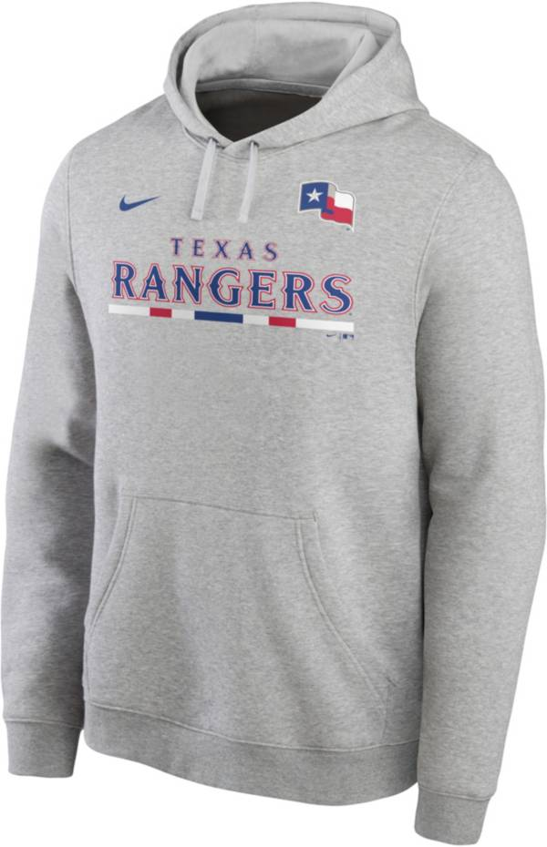 Nike Men's Texas Rangers Grey Color Bar Club Pullover Hoodie product image
