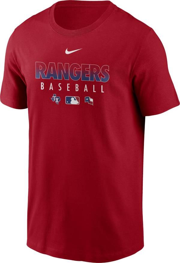 Nike Men's Texas Rangers Red Dri-FIT Baseball T-Shirt product image