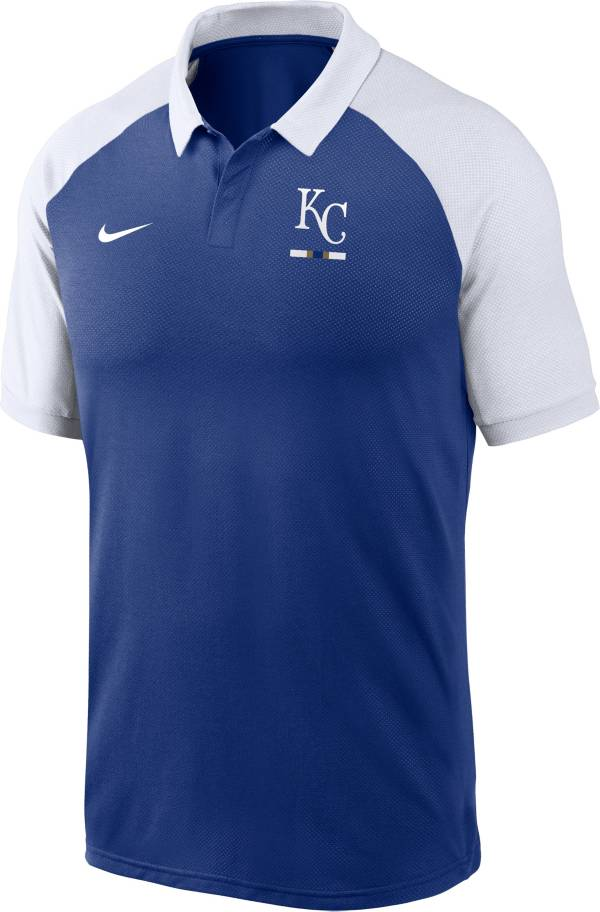 Nike Men's Kansas City Royals Blue Dri-FIT Legacy Raglan Polo product image