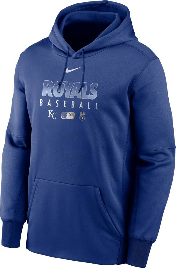 Nike Men's Kansas City Royals Blue Dri-FIT Therma Pullover Hoodie product image
