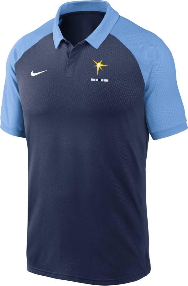 Nike Men's Tampa Bay Rays Navy Dri-FIT Legacy Raglan Polo product image