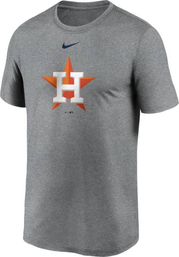 Nike Men's Houston Astros Grey Large Logo Legend Dri-FIT T-Shirt product image