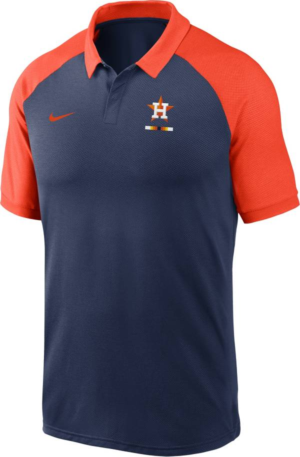 Nike Men's Houston Astros Navy Dri-FIT Legacy Raglan Polo product image