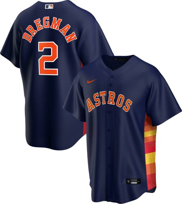 Nike Men's Replica Houston Astros Alex Bregman #2 Rainbow Cool Base Jersey product image