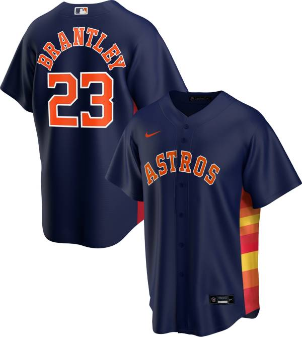 Nike Men's Replica Houston Astros Michael Brantley #23 Rainbow Cool Base Jersey product image