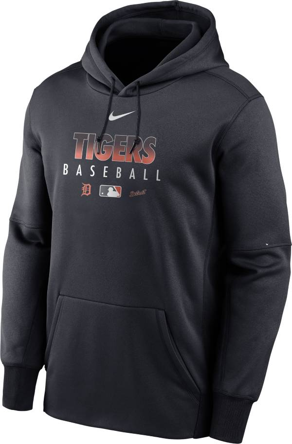 Nike Men's Detroit Tigers Navy Dri-FIT Therma Pullover Hoodie product image