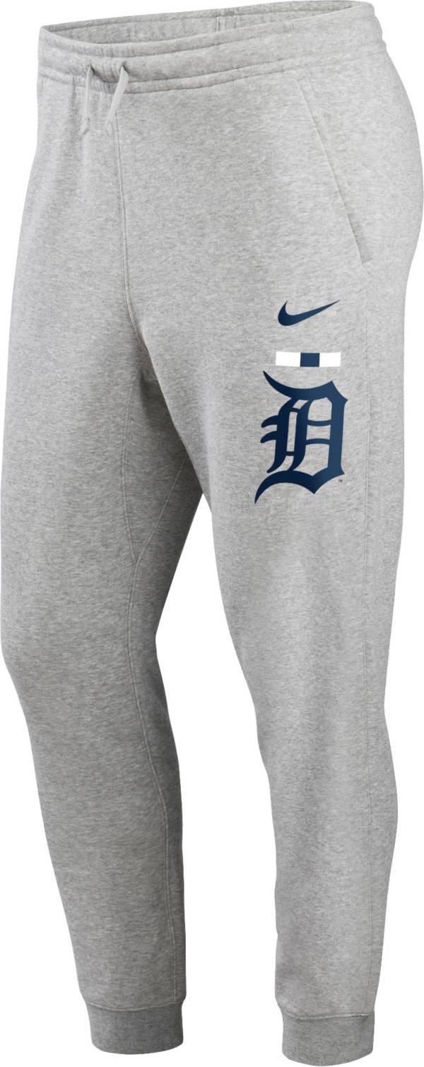 Nike Men's Detroit Tigers Grey Color Bar Club Fleece Joggers product image