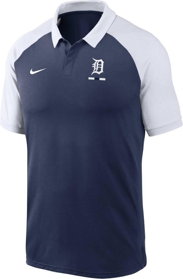 Nike Men's Detroit Tigers Navy Dri-FIT Legacy Raglan Polo product image