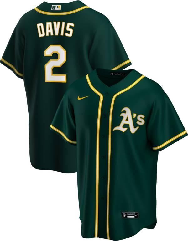 Nike Men's Replica Oakland Athletics Khris Davis #2 Green Cool Base Jersey product image