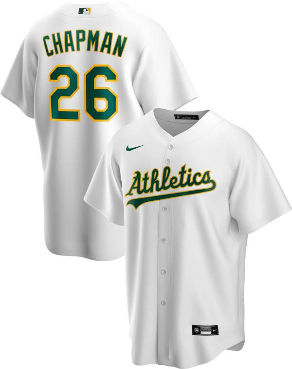 Nike Men's Replica Oakland Athletics Matt Chapman #26 White Cool Base Jersey product image