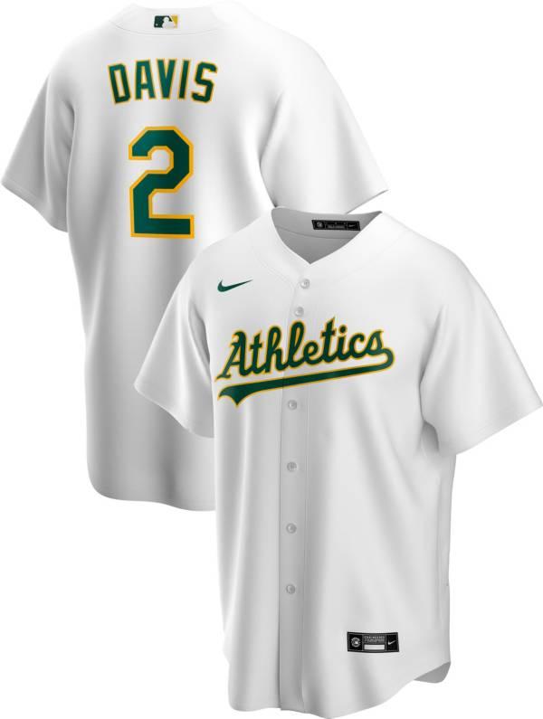 Nike Men's Replica Oakland Athletics Khris Davis #2 White Cool Base Jersey product image